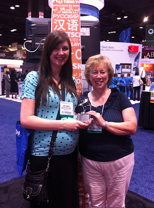 The awesome team from Green Hills PL accepting their award at ALA 2013.