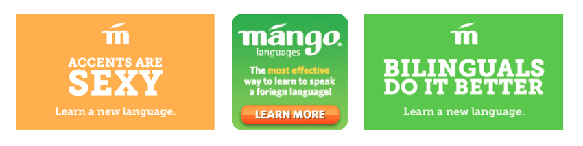 Mango offers many eye-catching web banners, free to download via the MAP (Mango Administration Portal).