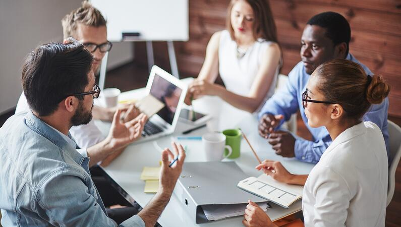 Successful business people using their cultural IQ
