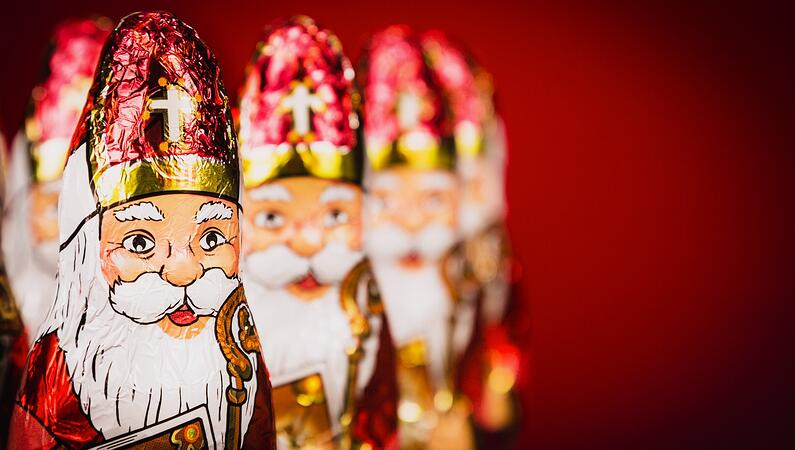 St. Nicholas chocolate figures.