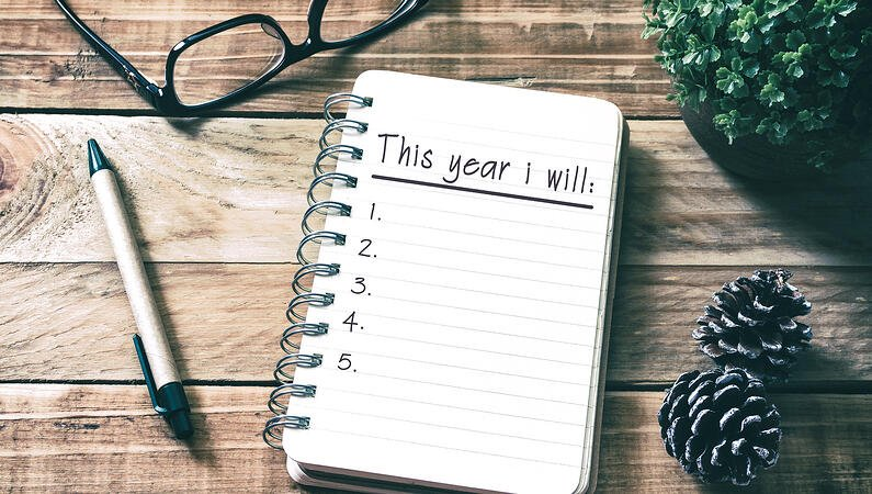 New Year's resolutions.