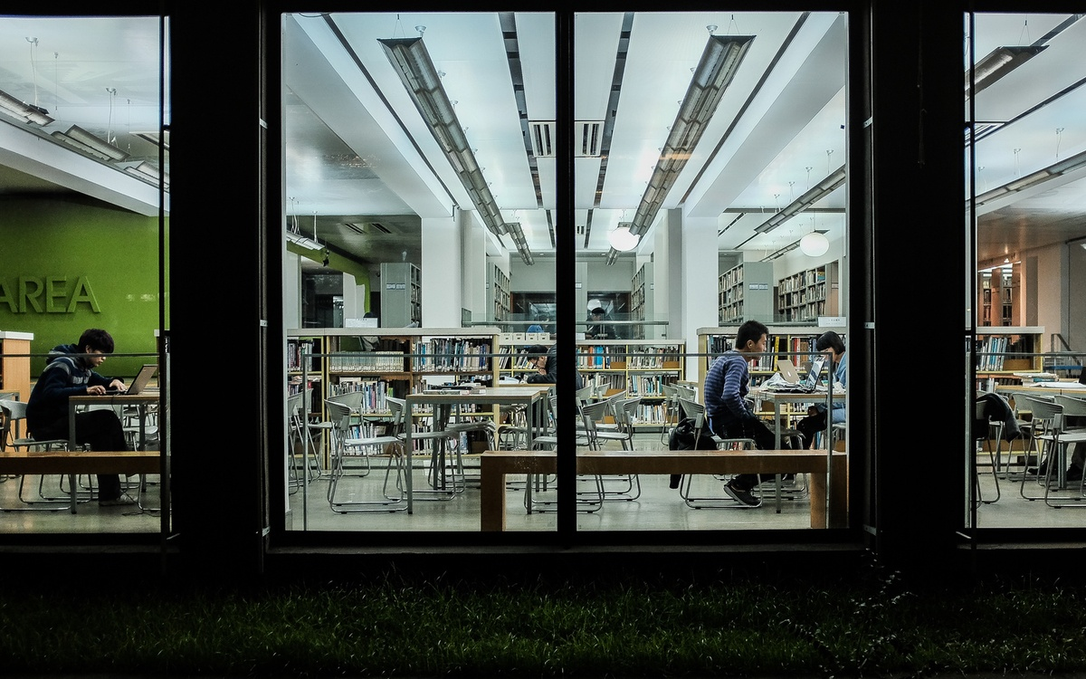 university library in campus tours