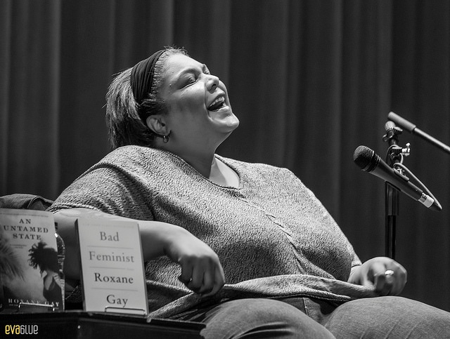 "Roxane Gay reading from her book ""Bad Feminist."""