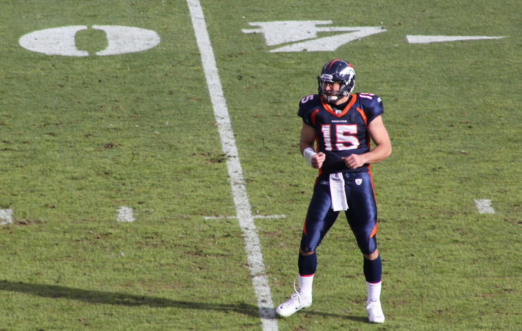Tim Tebow on the football field