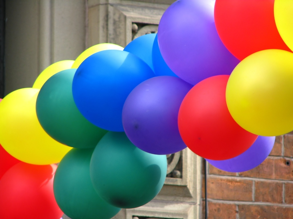 A bunch of balloons.