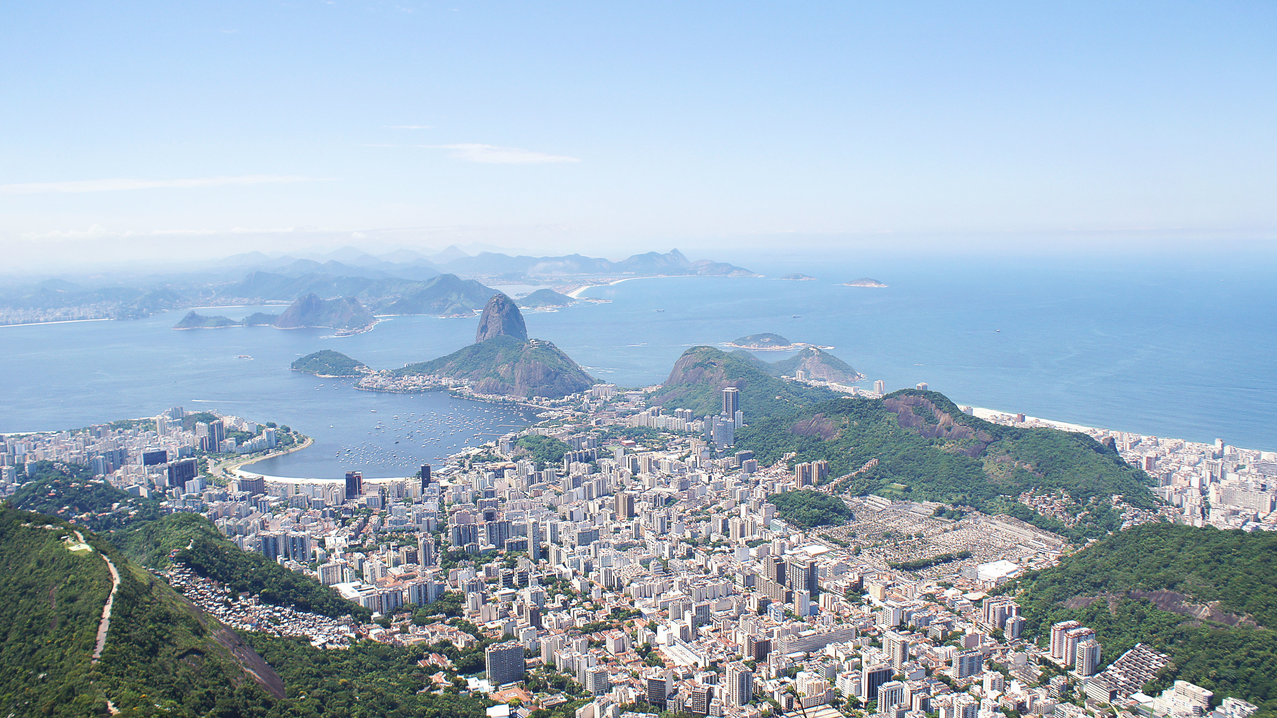 An aerial photo of Brazil.