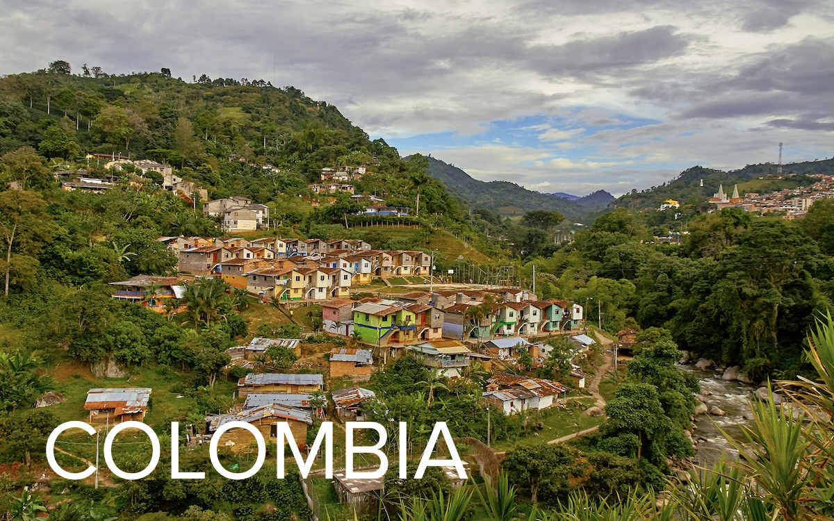 Mountains in Colombia.