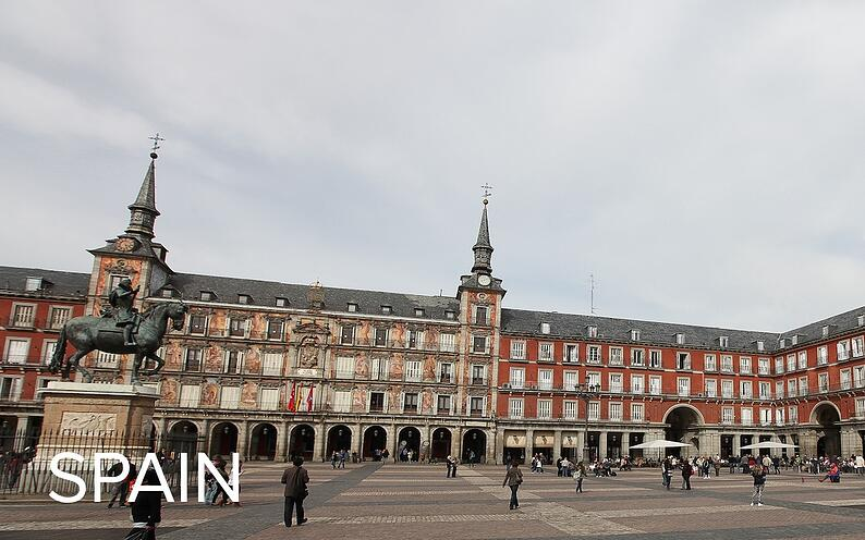 City square in Spain.