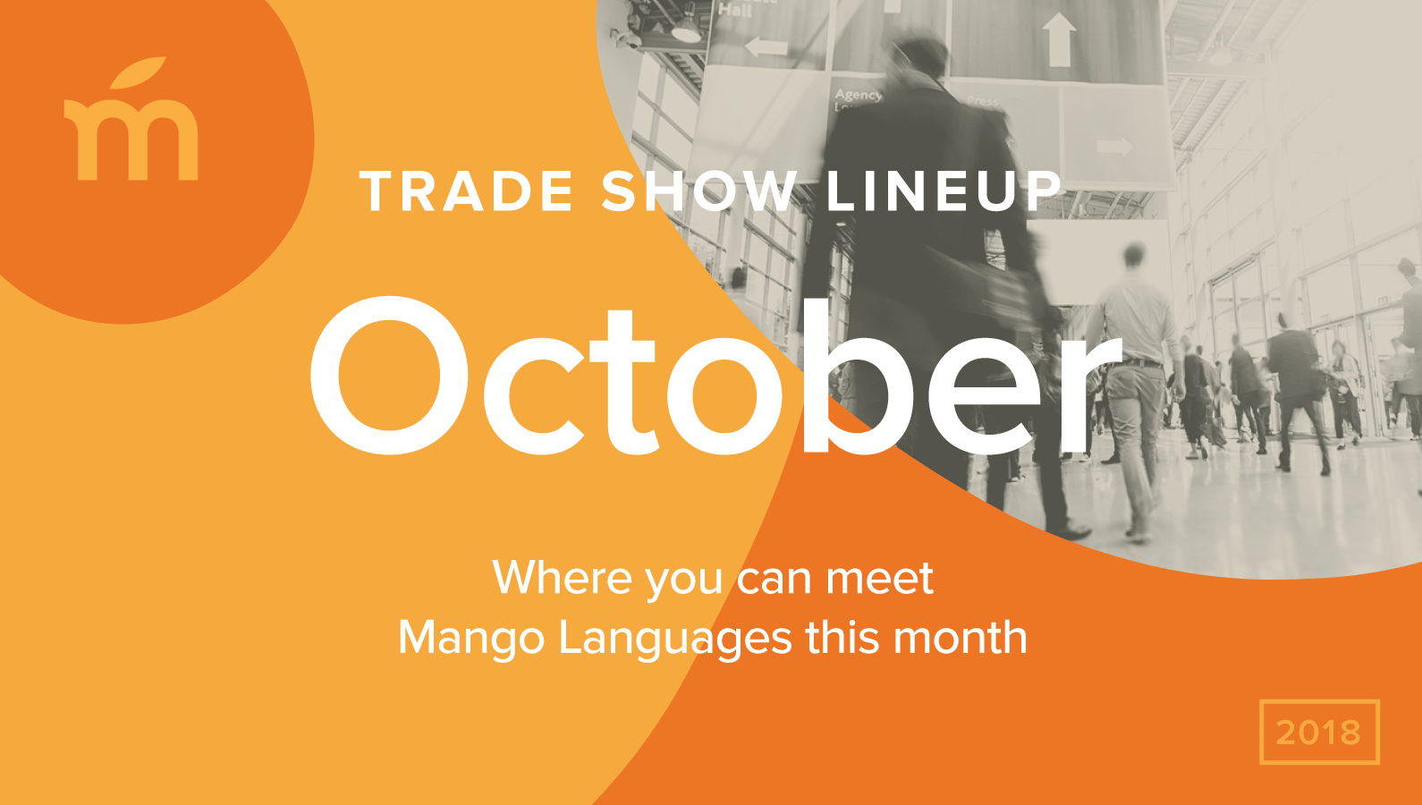 October trade show line up: Where you can meet Mango Languages
