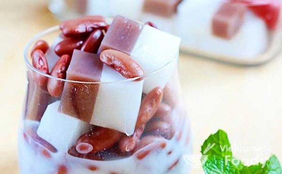Red bean tapioca coconut soup