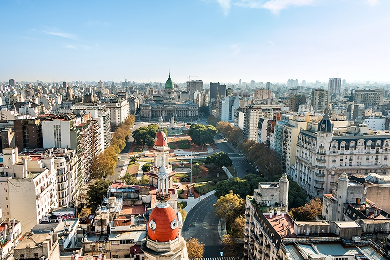 Cityscape of Buenos Aires, Argentina.