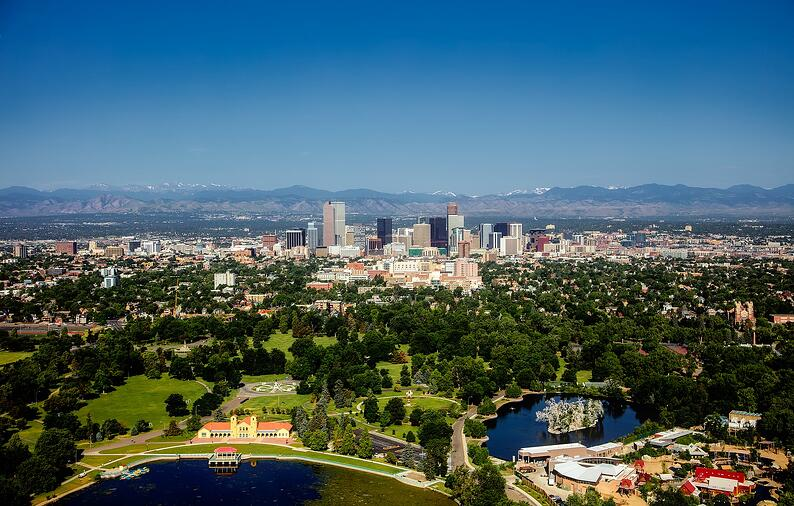Denver, Colorado skyline.