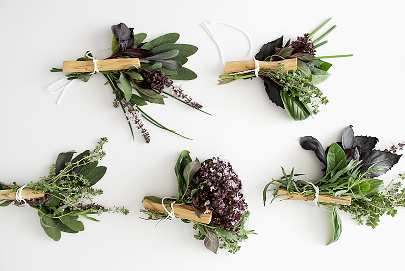 Fresh French herb bouquets