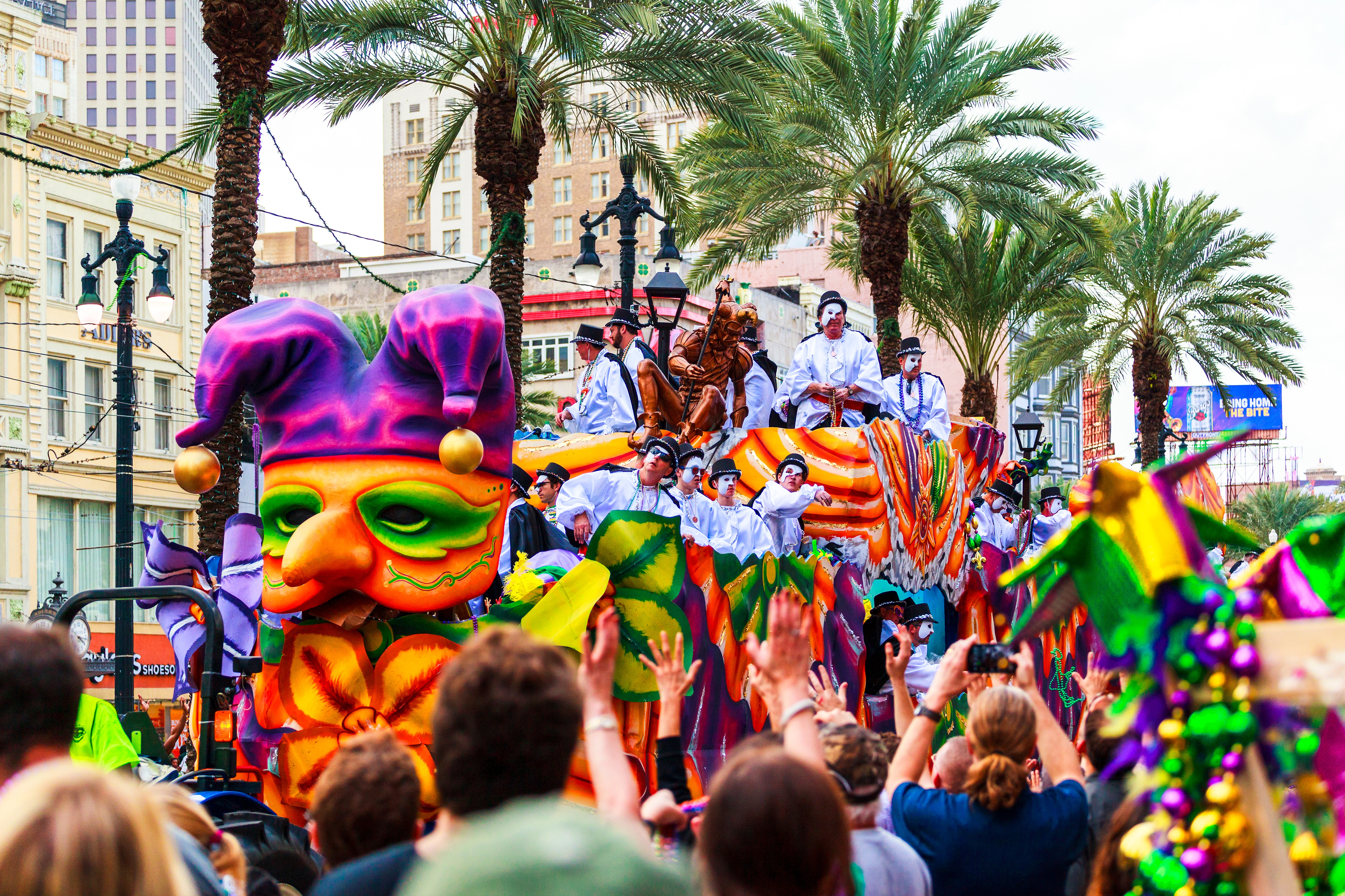 Mardi Gras parade float in New Orleans.