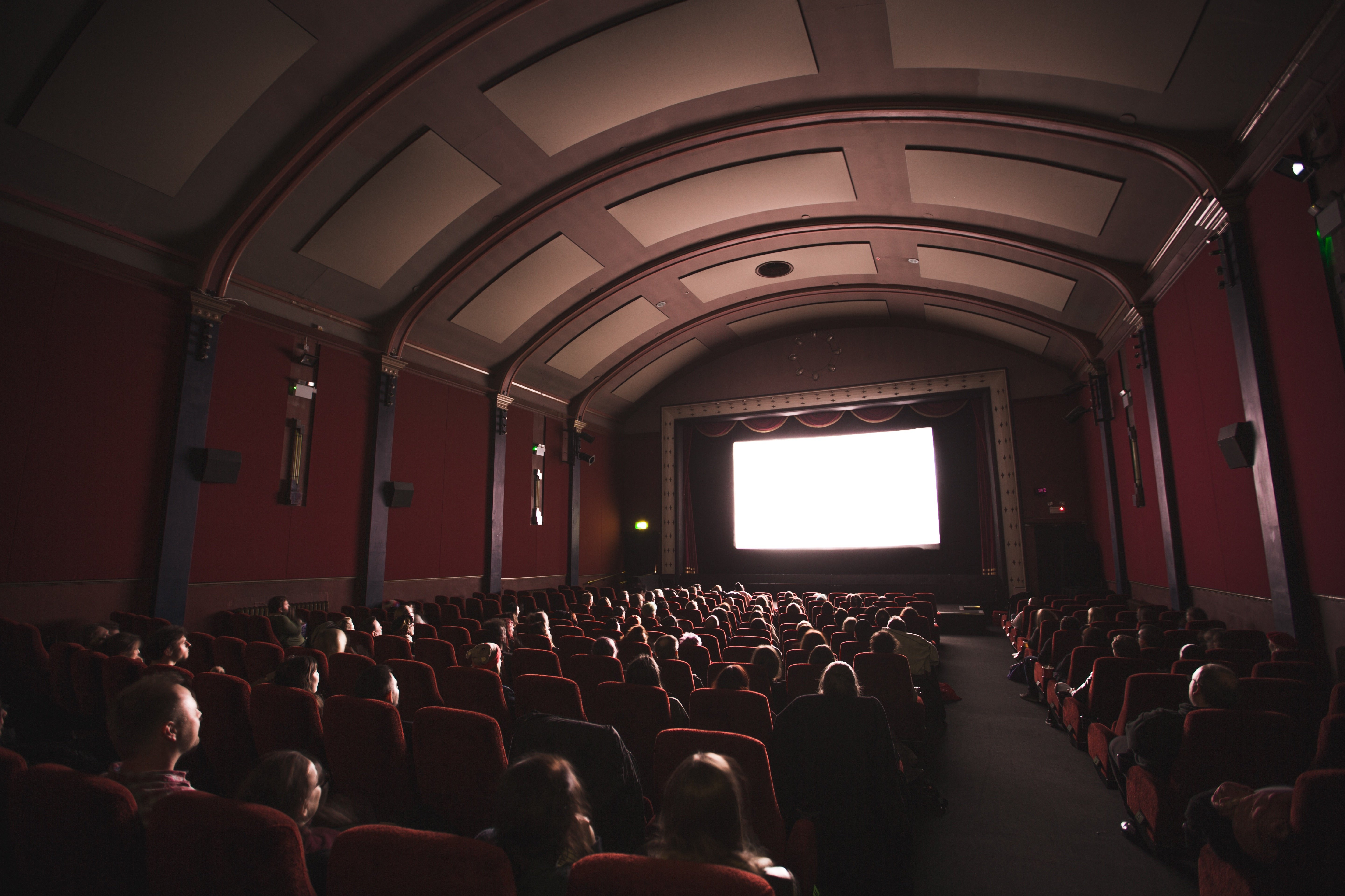 A movie theater full of people