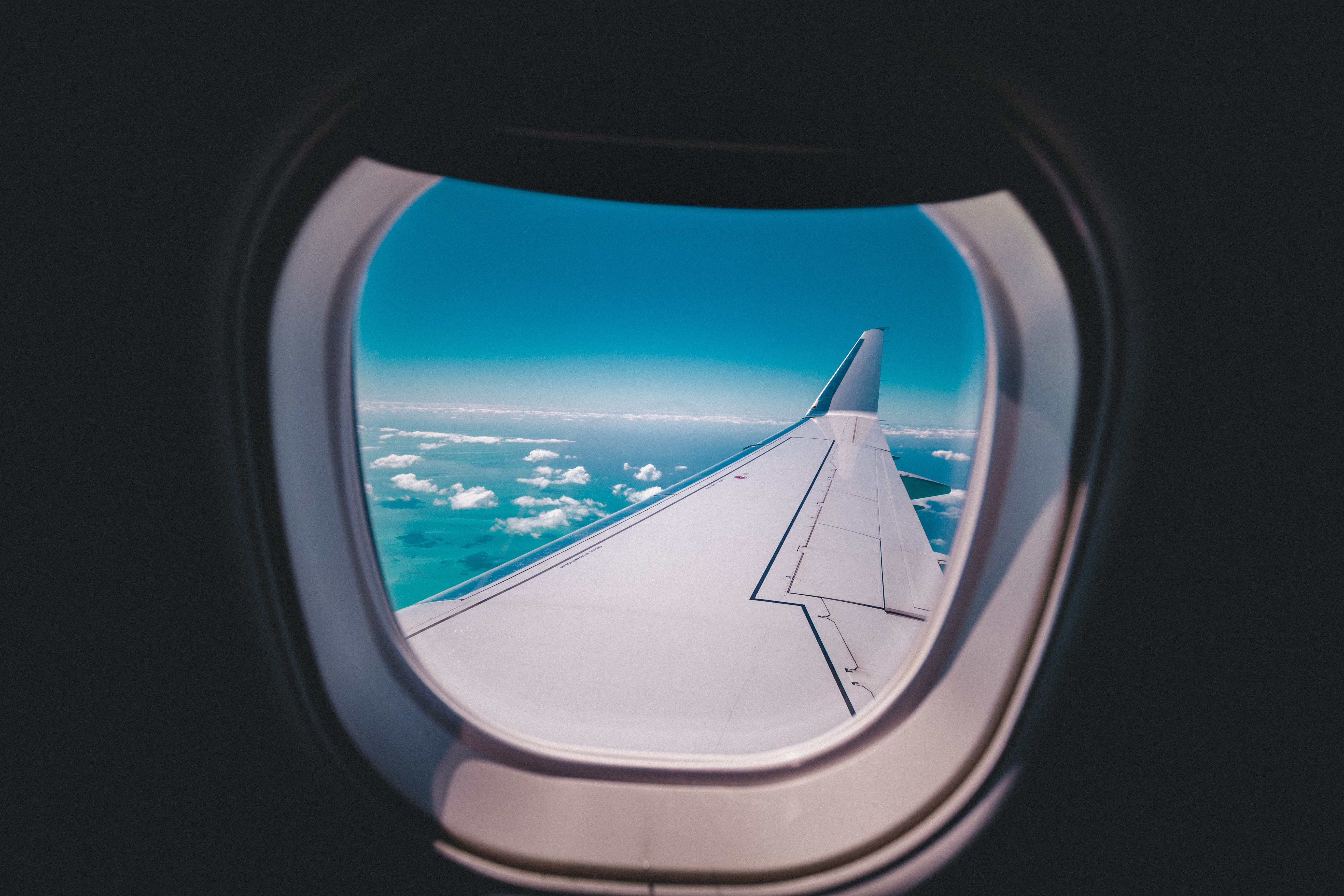 The view from an airplane window.