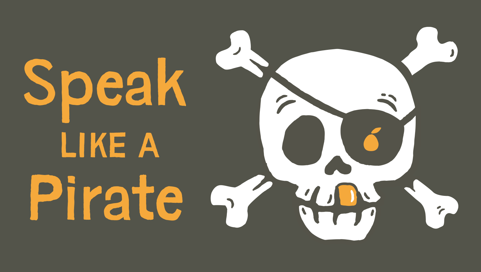 Speak like a pirate header