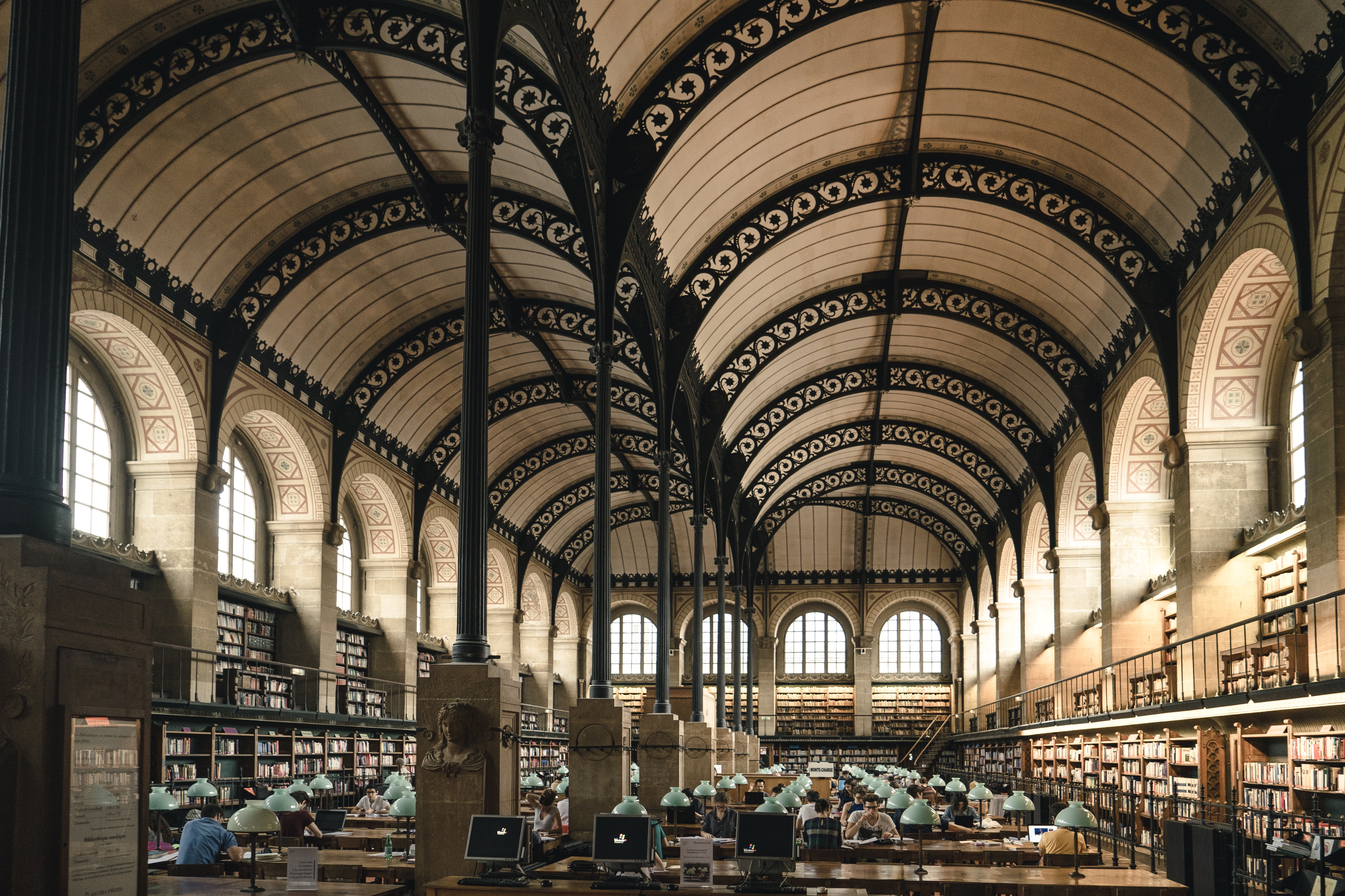 A college library.