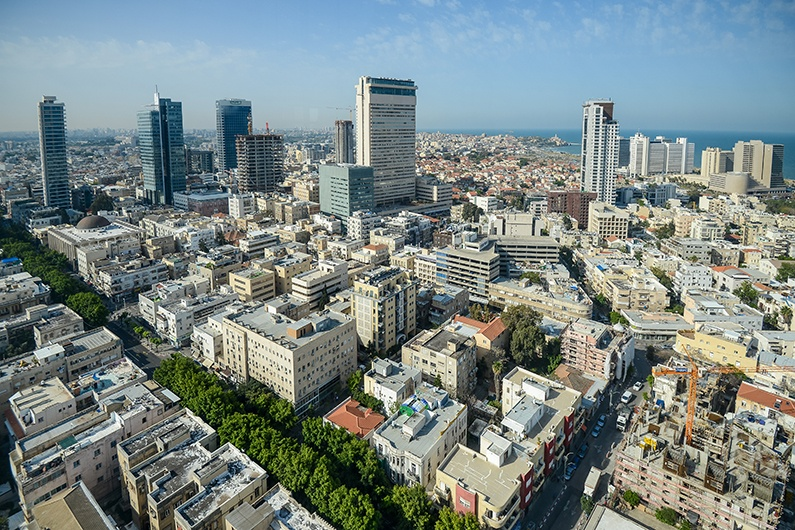Rooftop view of Tel Aviv, Israel.