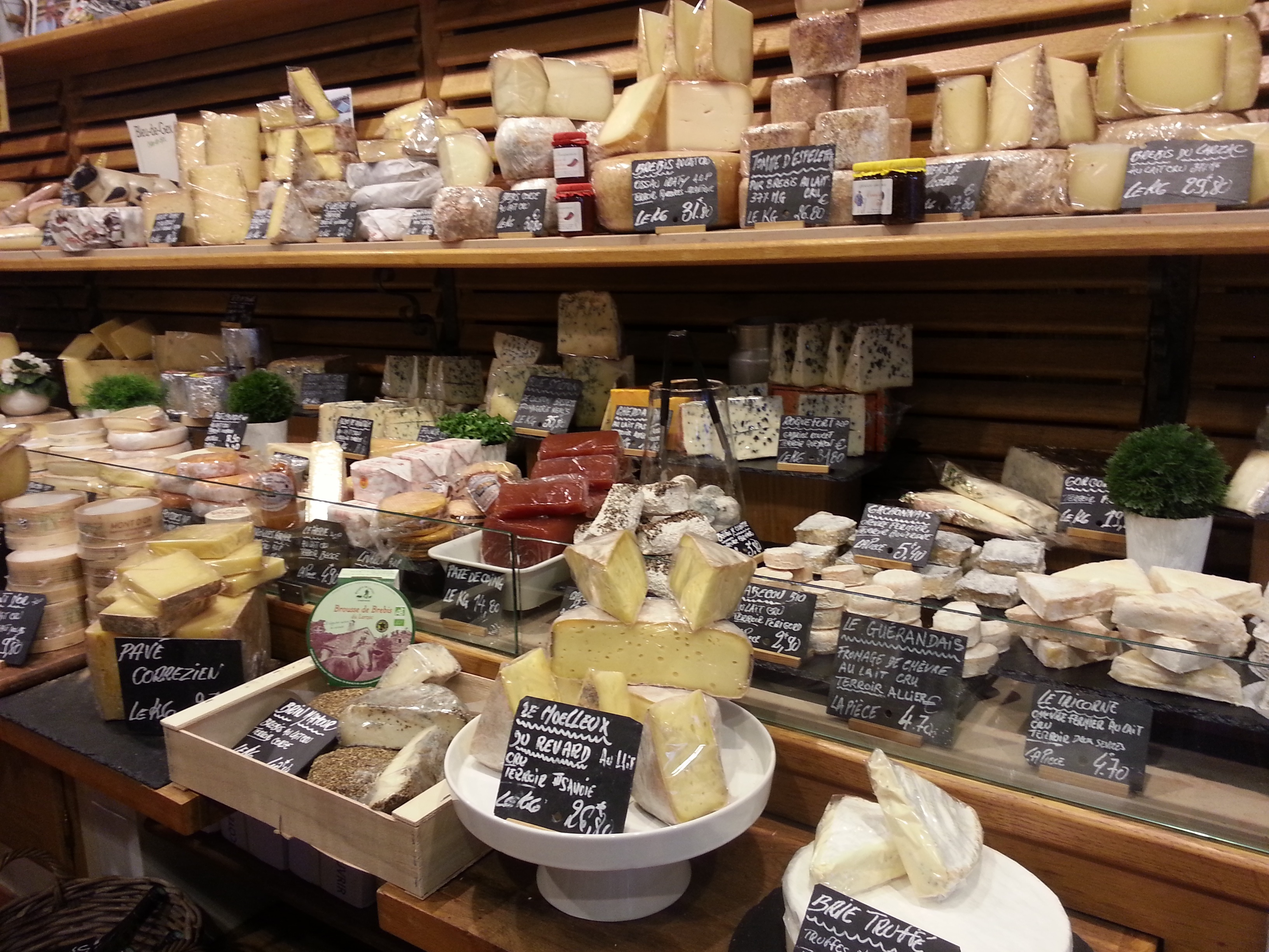 French cheese at a market.