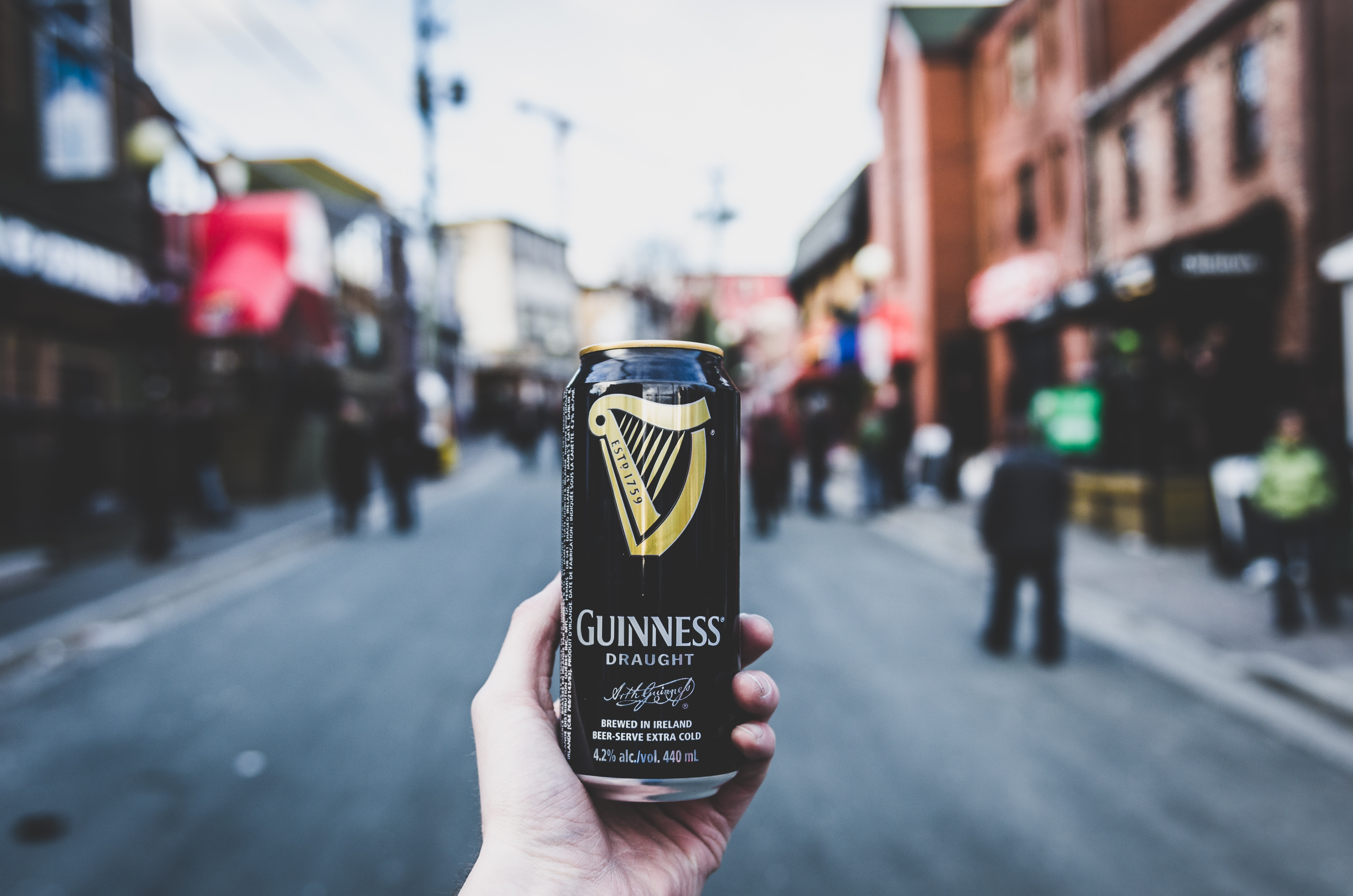 A can of Guinness Ale.