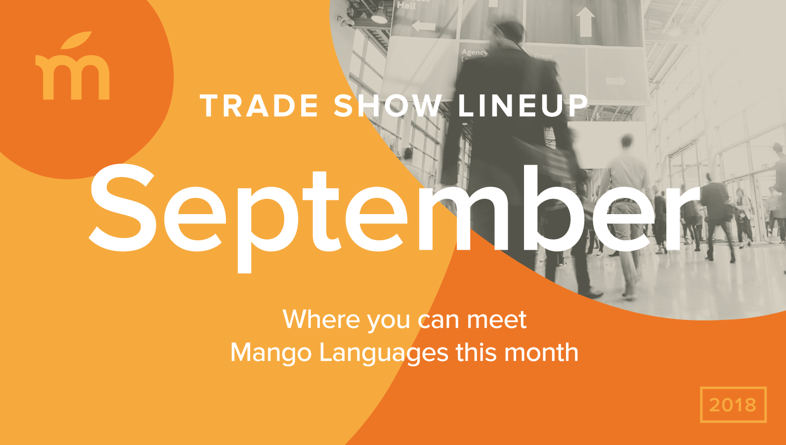 September trade show lineup with Mango Languages