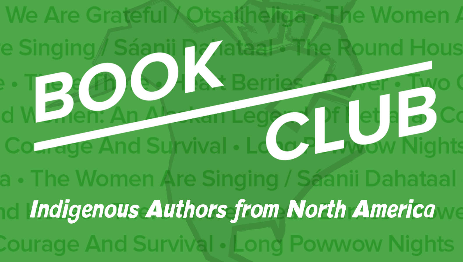 November book club: Indigenous Authors from North America