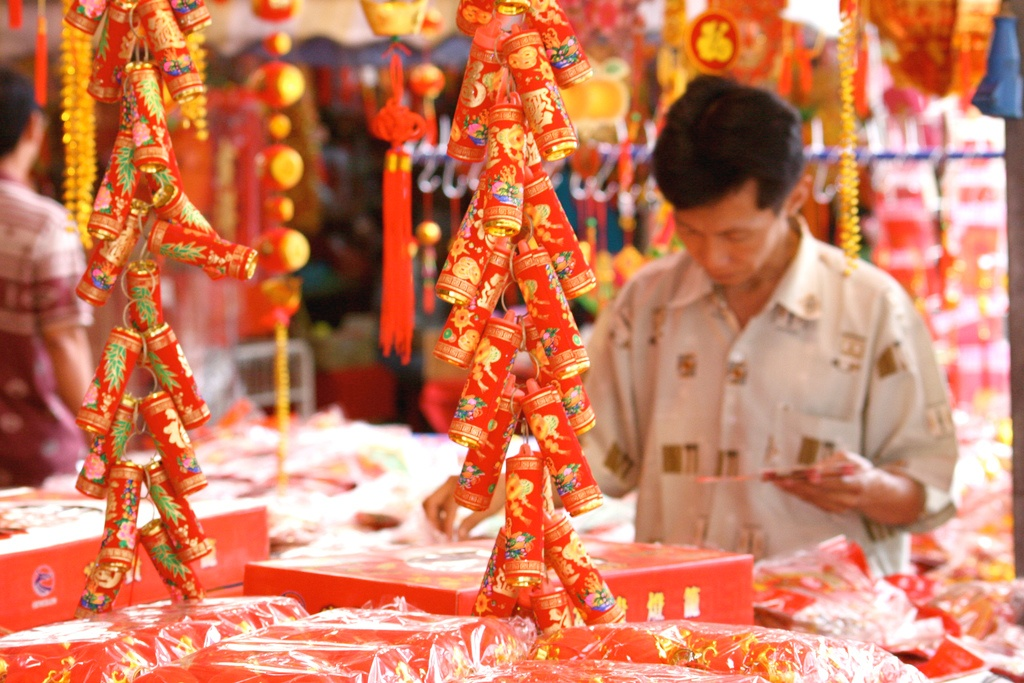 Decorations and party favors for Chinese New Year.