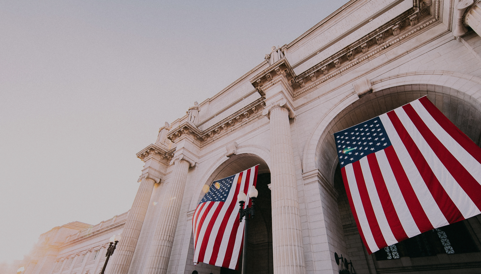 flags at capitol building