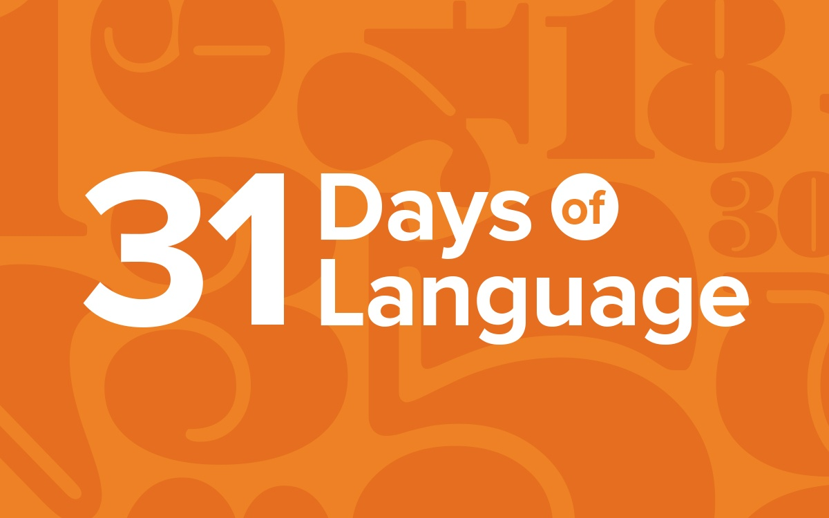 31 Days of Language.