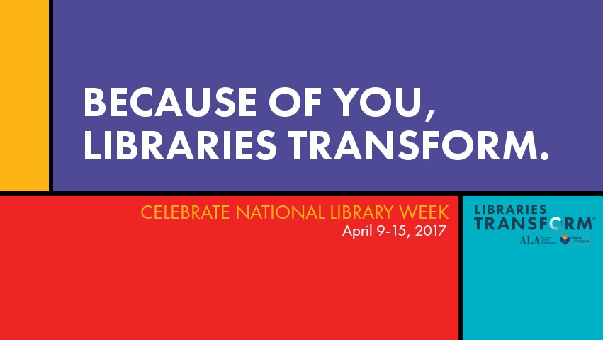 How to celebrate National Library Week at your library.