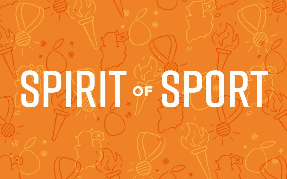 A design of sports imagery celebrating the spirit of sport.